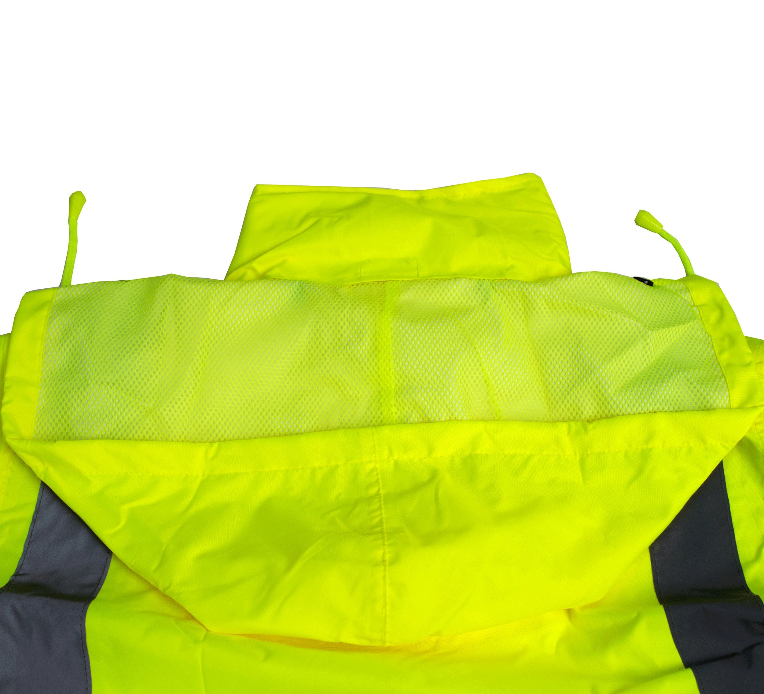 RK Safety Class 3 Rain suit, Jacket, Pants High Visibility Reflective Black Bottom RW-CLA3-LM11 (Medium, Lime) by New York Hi-Viz Workwear (Image #3)