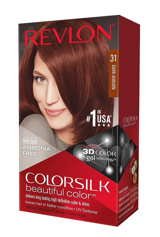 Revlon ColorSilk Haircolor, Dark Auburn, 15.150 Total Ounces Pack of 15