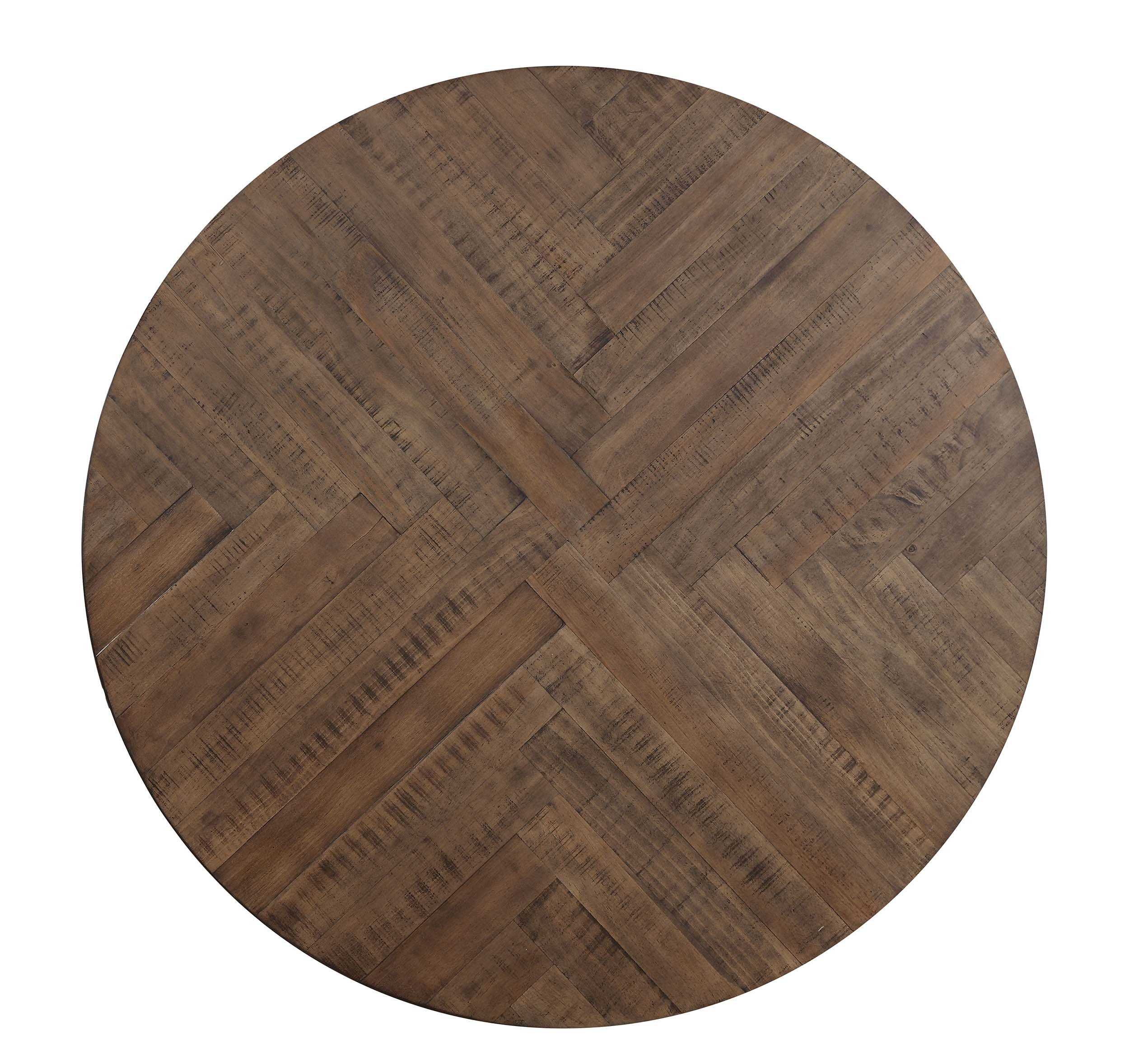 Homelegance Fideo 45'' Round Industrial Style Dining Table, Pine by Homelegance (Image #3)