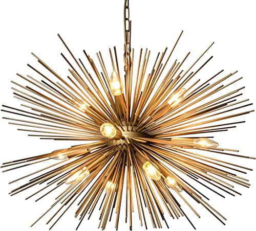AA Warehousing 12 Light Gold Finish Chandelier