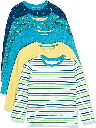Amazon Essentials Long-Sleeve T-Shirts Niños, Pack de 5