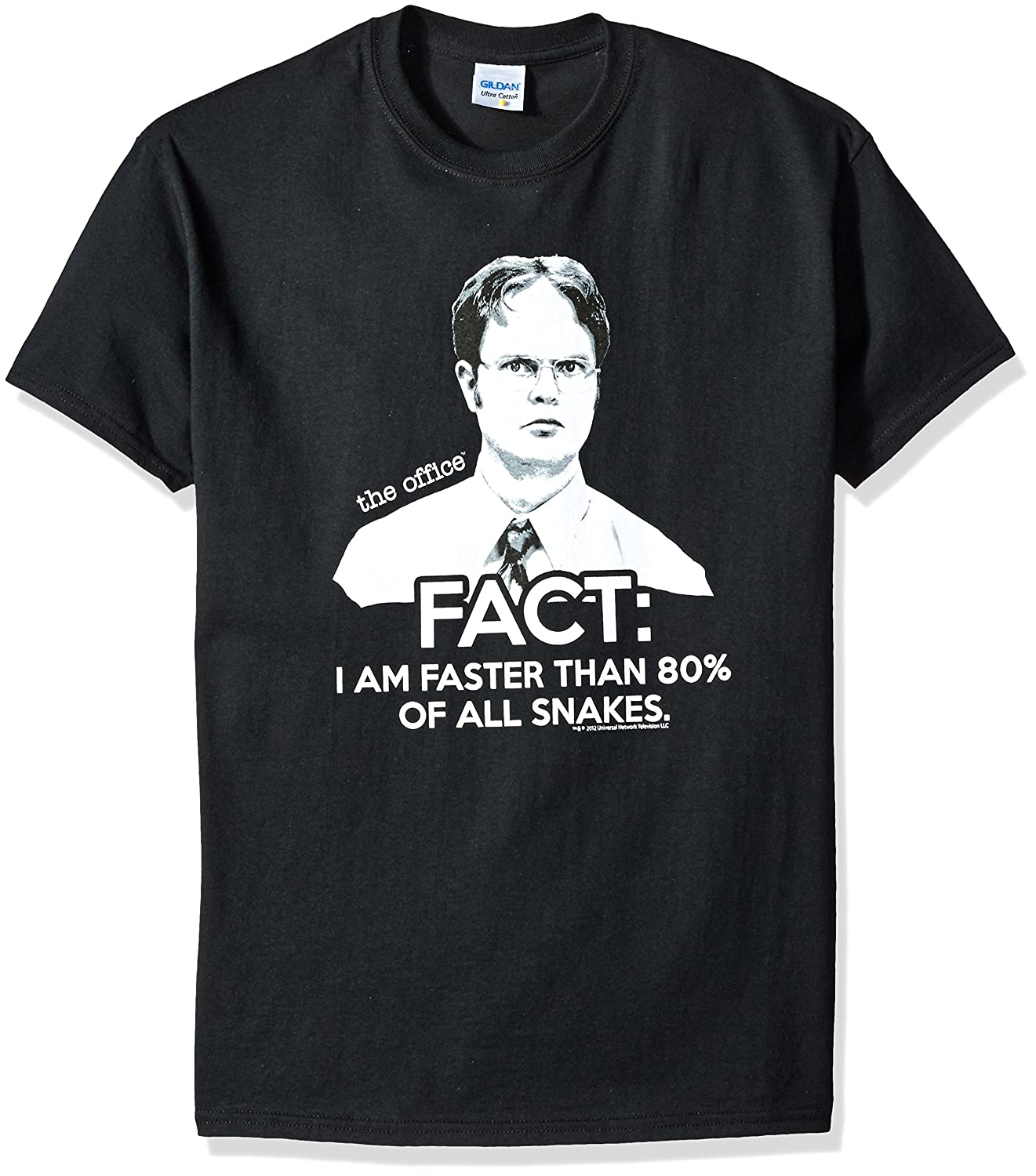 d5e1616eb Amazon.com: The Office Dwight Fact Faster Than Snakes T-Shirt: Clothing