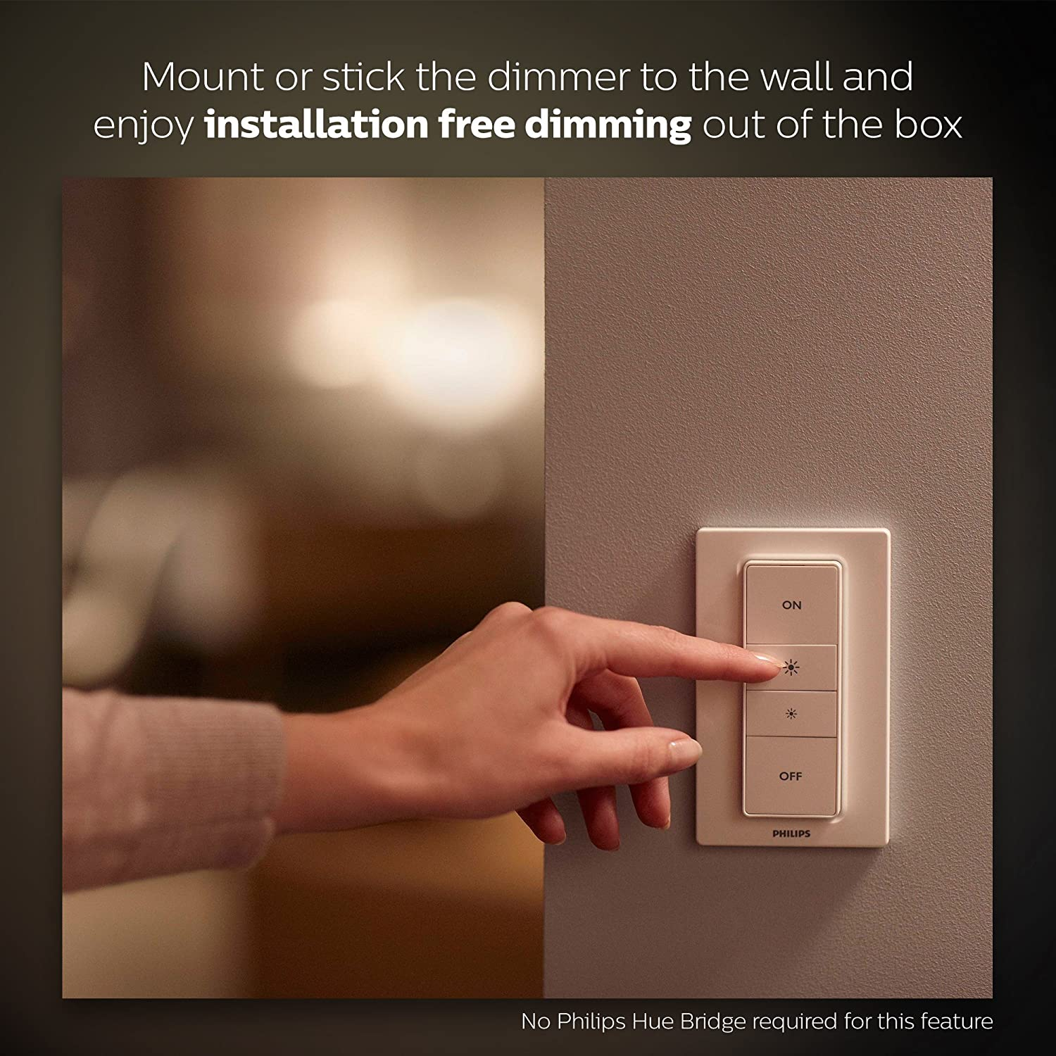 Philips Hue Smart Wireless Dimming Kit Installation Free Exclusive Wiring A Light Switch In The Middle Of Run For Lights Compatible With Amazon Alexa Apple Homekit And Google
