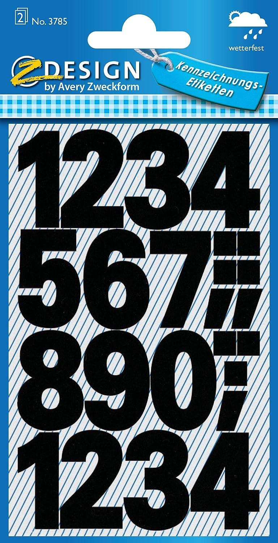 Avery Zweckform etiquetas con/3785 25 mm negro resistente a la ...