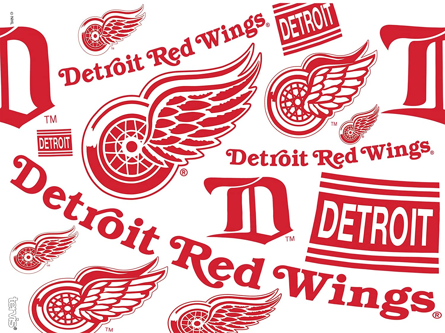 Tervis 1272224 NHL Detroit Red Wings All Over Tumbler with Wrap and Red Lid 24oz Clear