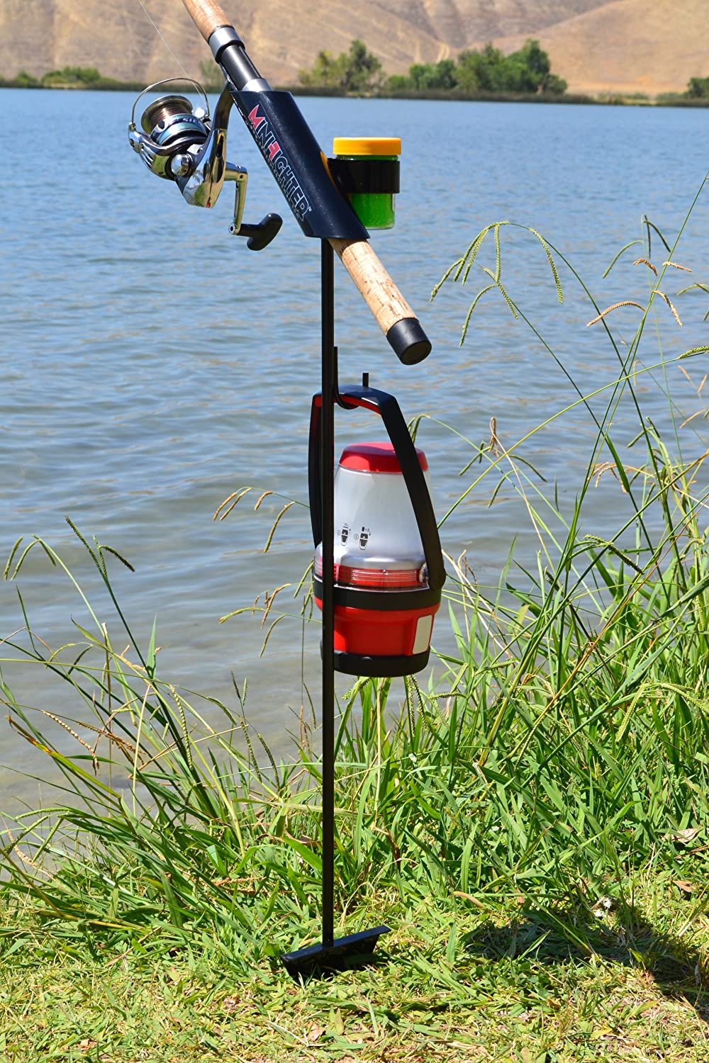 SamsOutdoorsman MiniFighter Fishing Rod Holder BLACK