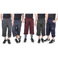 Krystle Men's Cotton 3/4th Shorts Capri (Pack of 5)