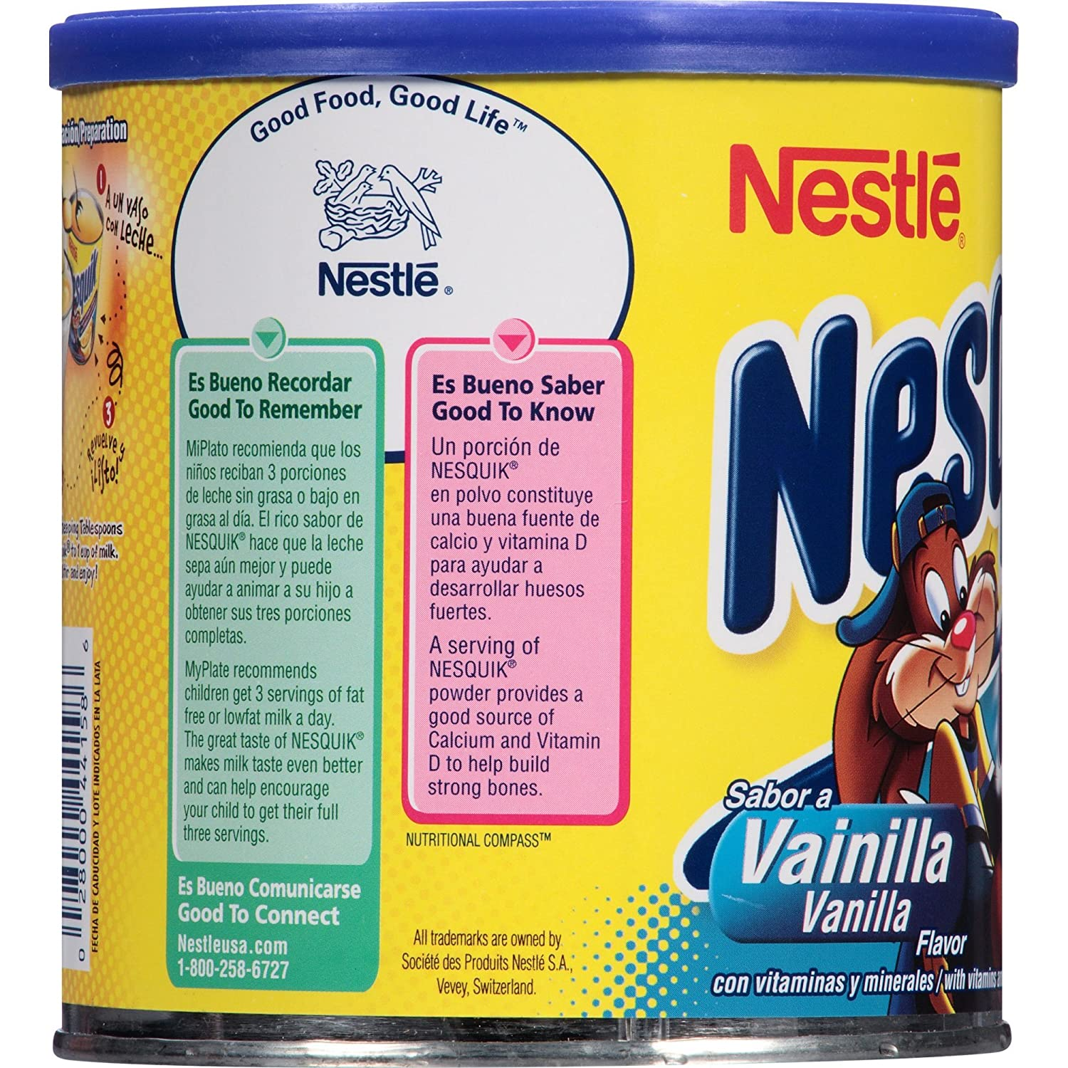 Nesquik Vanilla Flavor 14.1 oz. Canister (Pack of 3): Amazon.com: Grocery & Gourmet Food