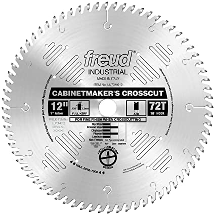 Freud Lu73m012 12 Inch 72 Tooth Atb Cabinetmakers Crosscutting Saw