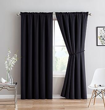 Amazoncom Erica Premium Rod Pocket Blackout Curtains With