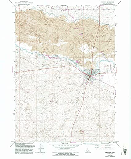 Shoshone Idaho Map.Amazon Com Idaho Maps 1971 Shoshone Id Usgs Historical