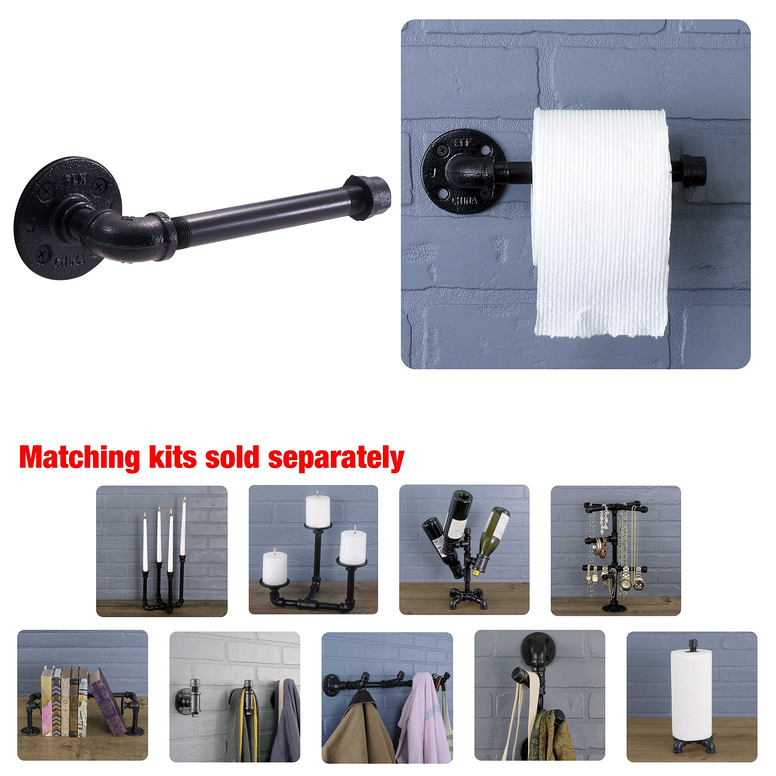 Rustic Industrial Pipe Toilet Paper Holder by Pipe Decor | Heavy ...