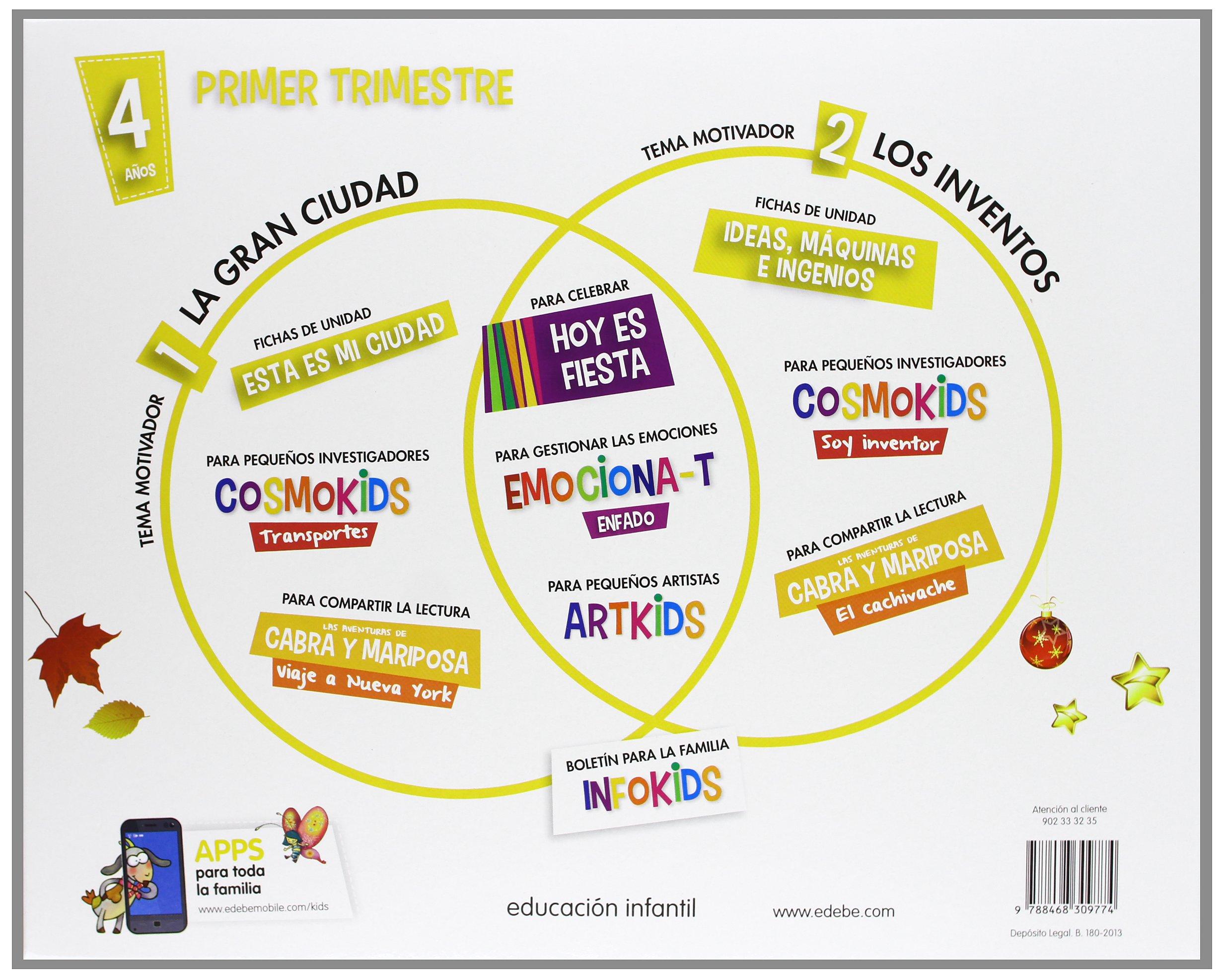 KIDS EDEBE 4 AÑOS PRIMER TRIMESTRE - 9788468309774: Amazon.es: Obra  Colectiva Edebé: Libros