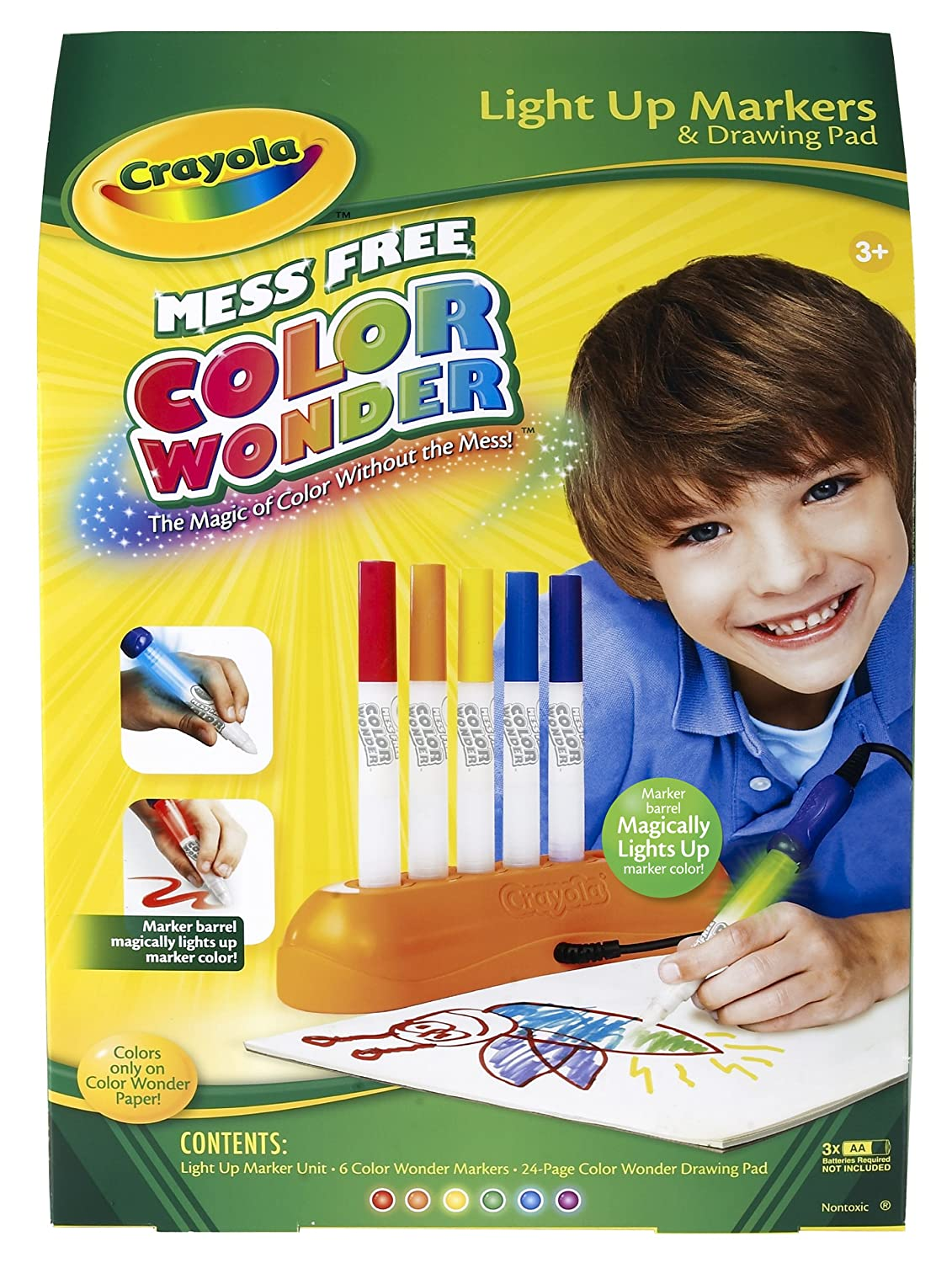 amazoncom crayola color wonder magic light markers toys games - Magic Marker Coloring Book