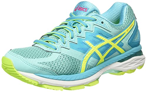 GT-2000 4 Zapatillas de Running para Mujer, Color Multicolor (Aruba Blue/Safety Yellow/Aquarium), Talla 35.5 Asics
