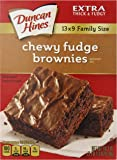 Duncan Hines Chewy Fudge Brownie Mix, 18.3 Ounce (Pack of 12)