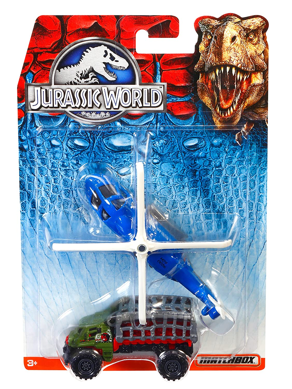 Amazon.com: Matchbox Jurassic World Land and Air Vehicle Collection ...