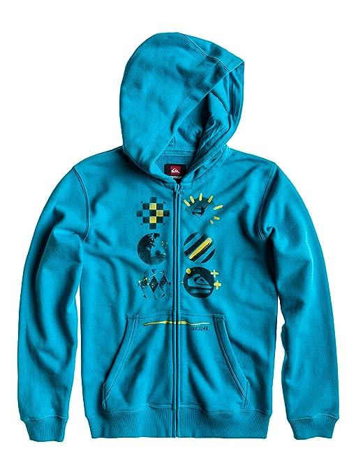 Quiksilver Zipper Hood Zip Youth G6 - Sudadera con capucha, color verde, talla DE