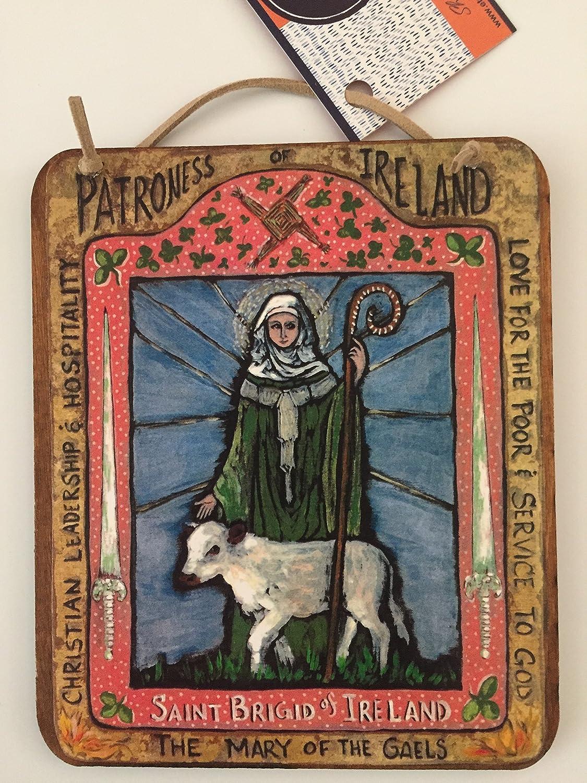 Saint Brigid of Ireland a print of my original Icon Retablo