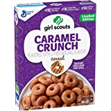 Girl Scouts Cereal - 11 oz! Thin Mint and Caramel Crunch! No Artificial Flavors or Colors! New! Limited Edition! Minty! (Caramel Crunch)