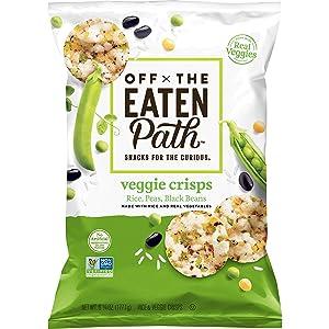 Off The Eaten Path Veggie Crisps(Rice, Peas, Black Beans), 6.25 Ounce