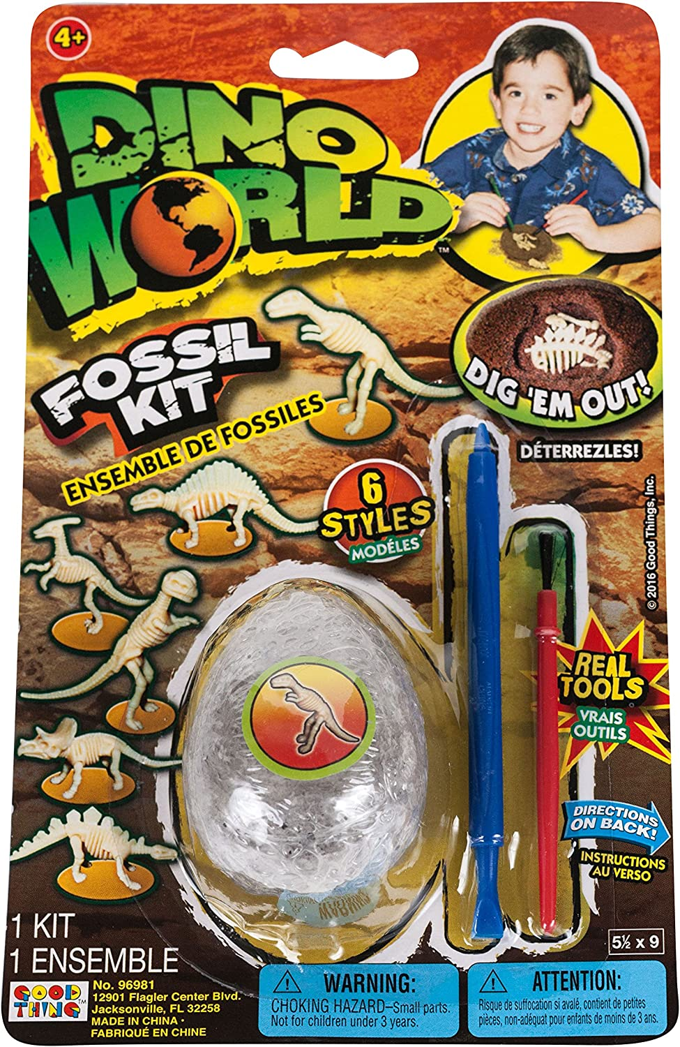 1-Pack Dino World Fossil Kit With Real Tools