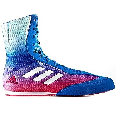 adidas Box Hog Plus Mens Boxing Trainer Shoe Boot Blue / Multi - UK 13.5