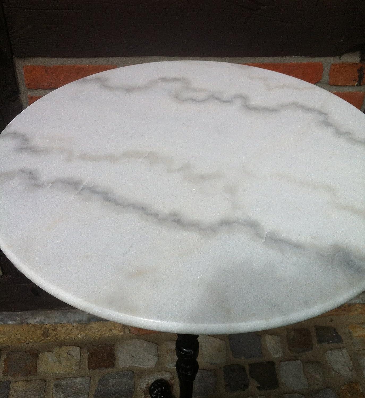 Gartentisch wei rund great full size of esstisch rund for Marmortisch rund