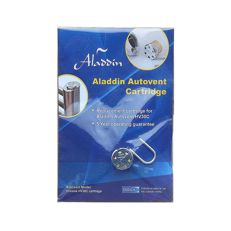Aladdin Autovent Cartucho de toallero para radiador v/álvula de purga de aire autom/ática, 1,27 cm