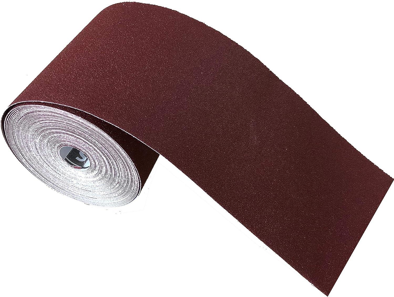 Rouleau de papier abrasif 115 mm x 10 m grain 240 rouleau doxyde daluminium