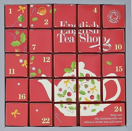 Weihnachtskalender Tee.English Tea Shop Tee Adventskalender Pink Christmas 24 Einzelne Boxen Mit Würzigen Bio Tees In Hochwertigen Pyramiden Teebeutel