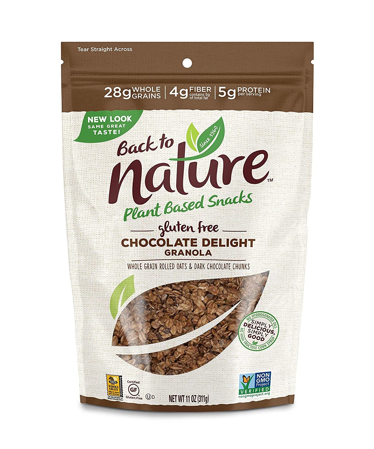 Back to Nature Gluten Free Granola, Non-GMO Chocolate Delight, 11 Ounce (Pack of 6) (Packaging May Vary)