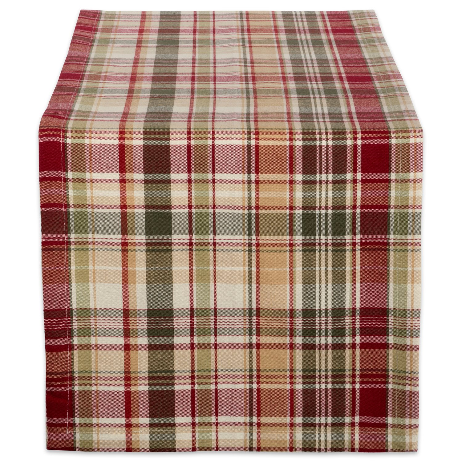 "Cabin Plaid 100% Cotton Table Runner (14x72"")"
