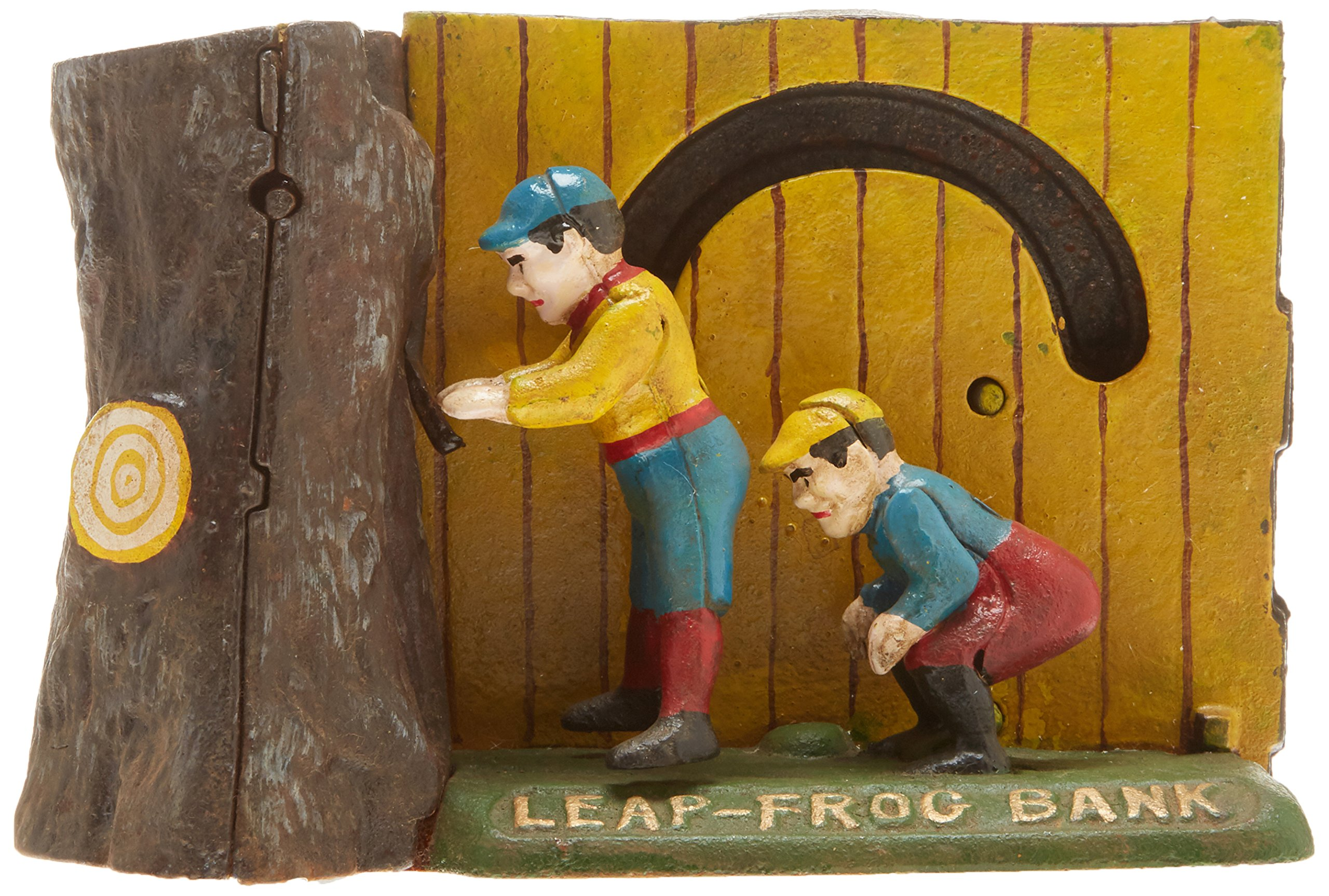 Design Toscano Leap Frog Collectors' Die-Cast Iron Mechanical Coin Bank by Design Toscano (Image #3)