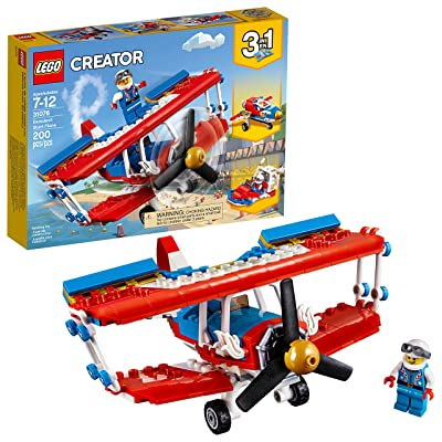 LEGO Creator 3in1 Daredevil Stunt Plane 31076 Building Kit (200 Piece): Toys & Games