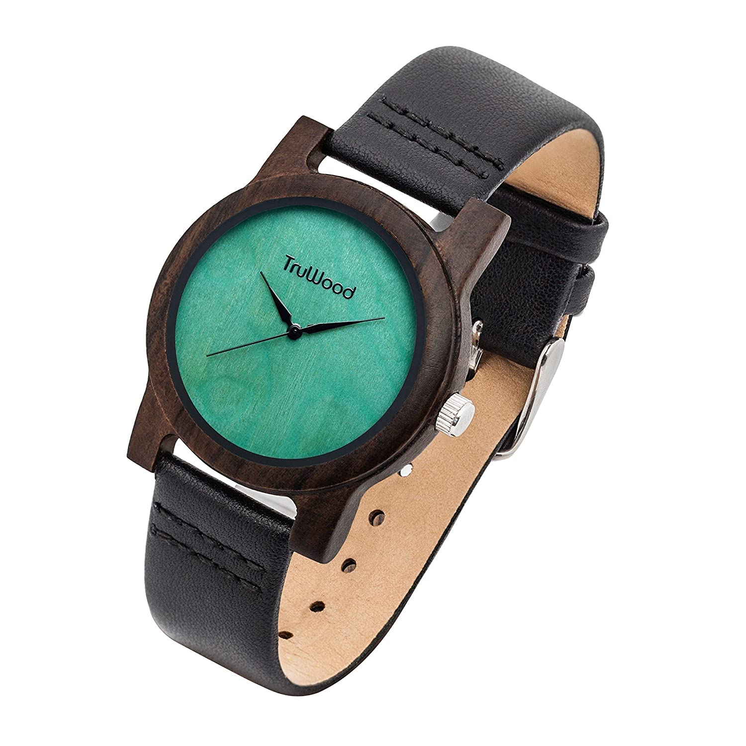 mahogany watch with download men for watches truwood olive ej products quartz wooden black hybrid wood