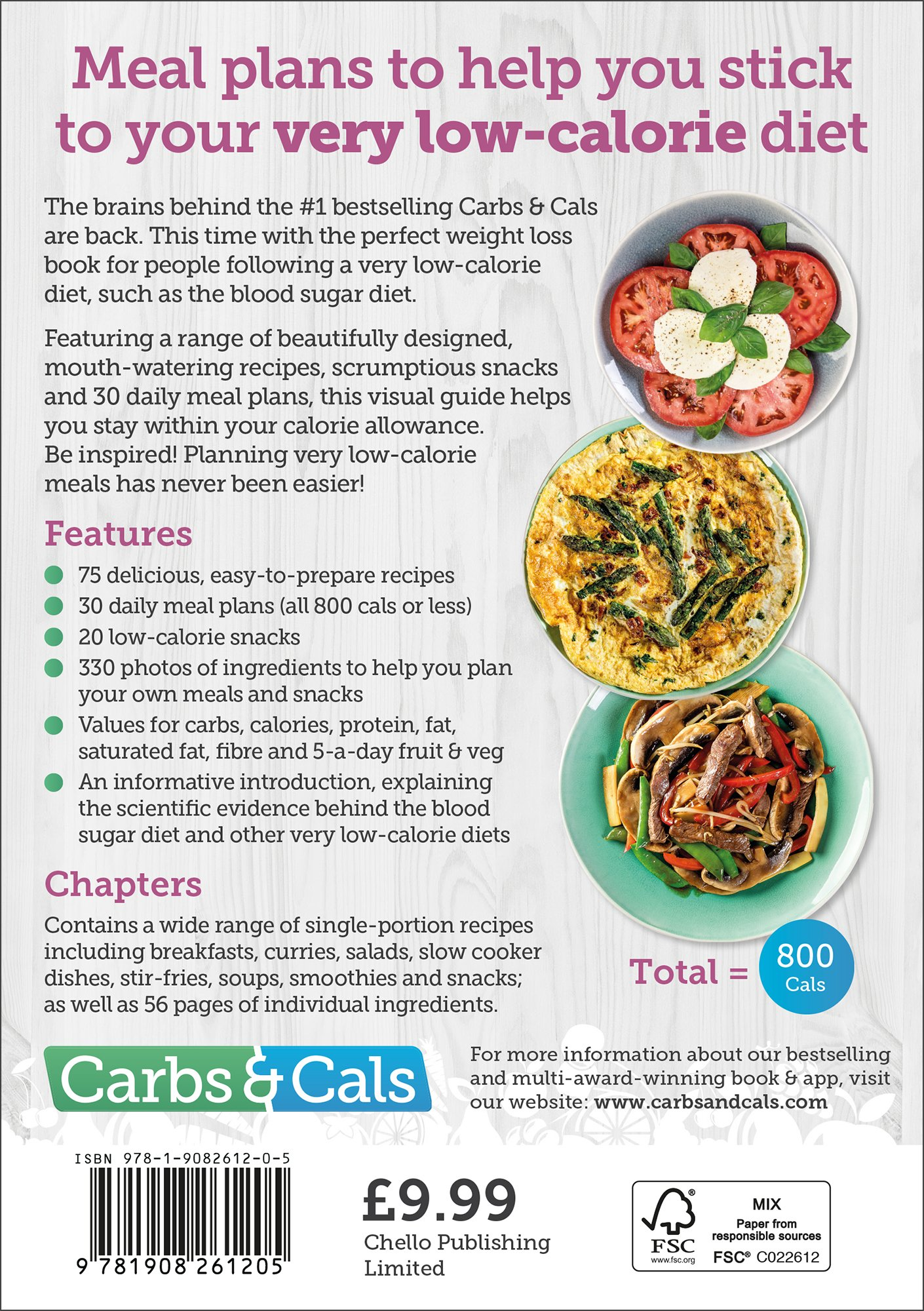 Carbs & Cals Very Low Calorie Recipes & Meal Plans: Lose Weight, Improve  Blood Sugar Levels and Reverse Type 2 Diabetes: Amazon.co.uk: Chris  Cheyette, ...