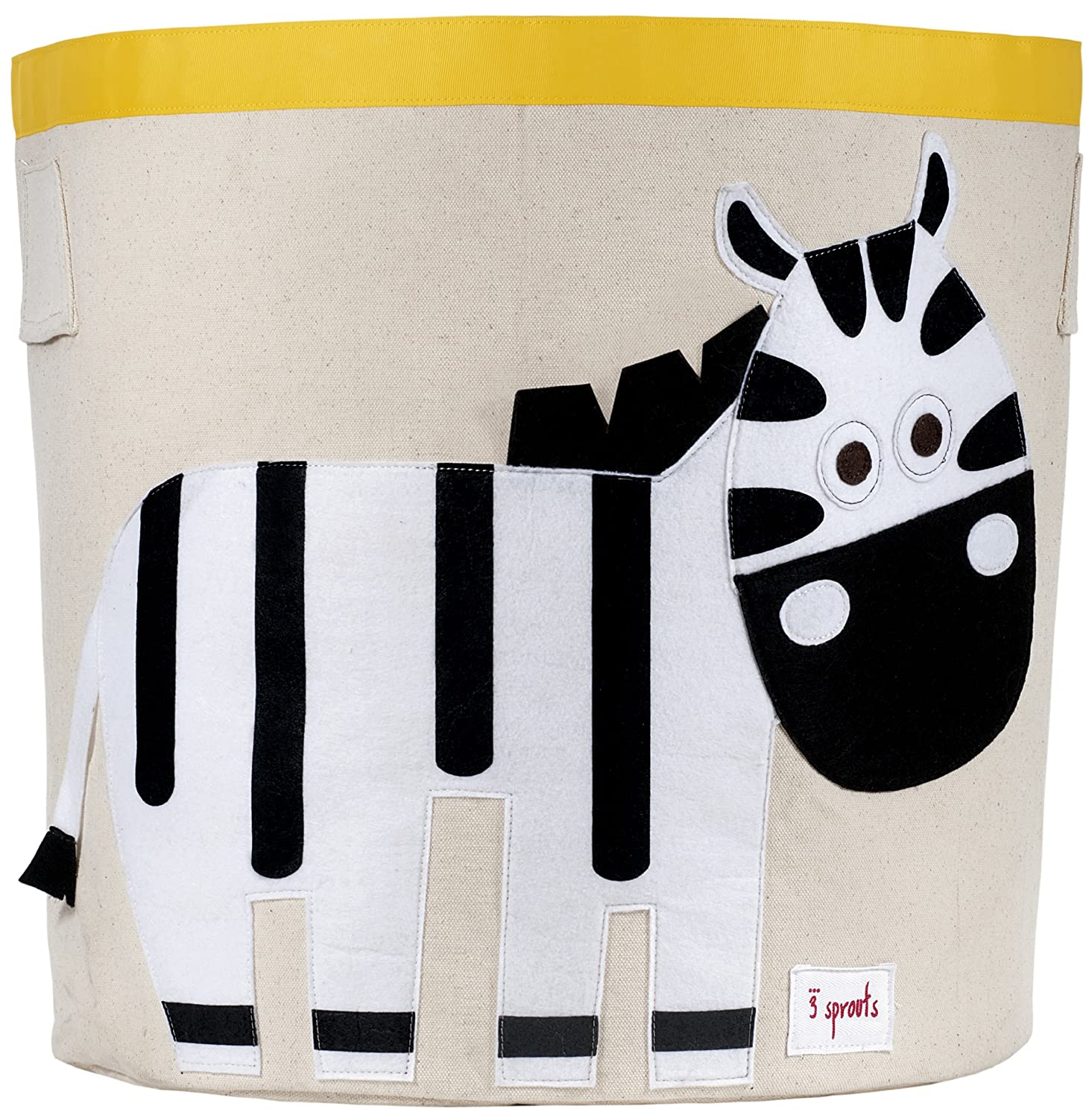 3 Sprouts Storage Bin, Black and White Zebra Lulujo