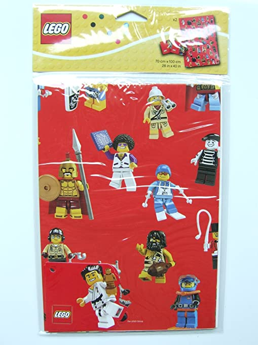 Lego Minifigure Wrapping Paper 853240, Party Favors - Amazon Canada