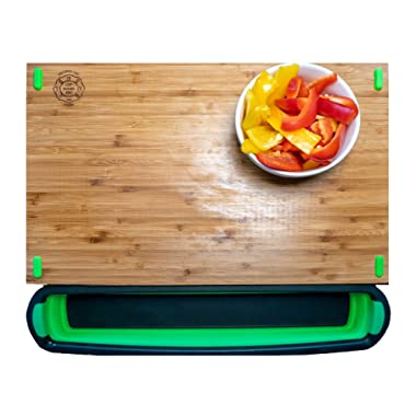 Cup Board Pro - Mess-Free Bamboo Cutting Board with Cup Tray (As Seen on Shark Tank)