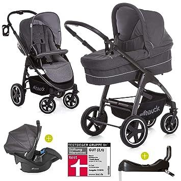 Cochecito 3 en 1 de Hauck, Soul Plus, incluyecuna con isofix, cochecito combinado con ruedas grandes y muchos accesorios, modelo Beluga: Amazon.es: Bebé