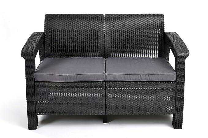 Amazonde Keter Lounge Sofa Rattan Korfu Rattan 2 Sitzer Sofa