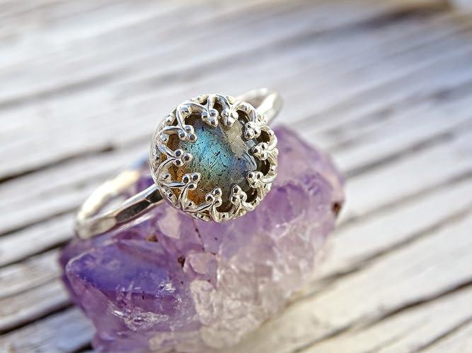 Amazoncom blue labradorite silver ring alternative engagement