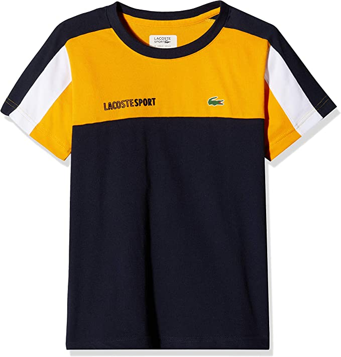Lacoste Sport Tj1330 Camiseta, Naranja (Pomelo/Marine-Blanc Bp7 ...