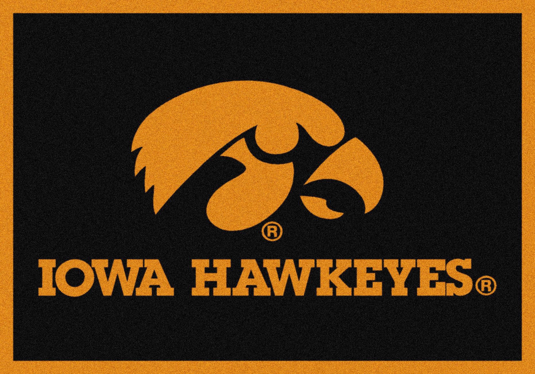 Iowa Hawkeyes NCAA College Team Spirit Team Area Rug 2'8''x3'10''