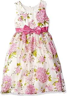ea2ca08f273 Amazon.com  Jayne Copeland Girls  Floral Print Shant Mesh Dress ...