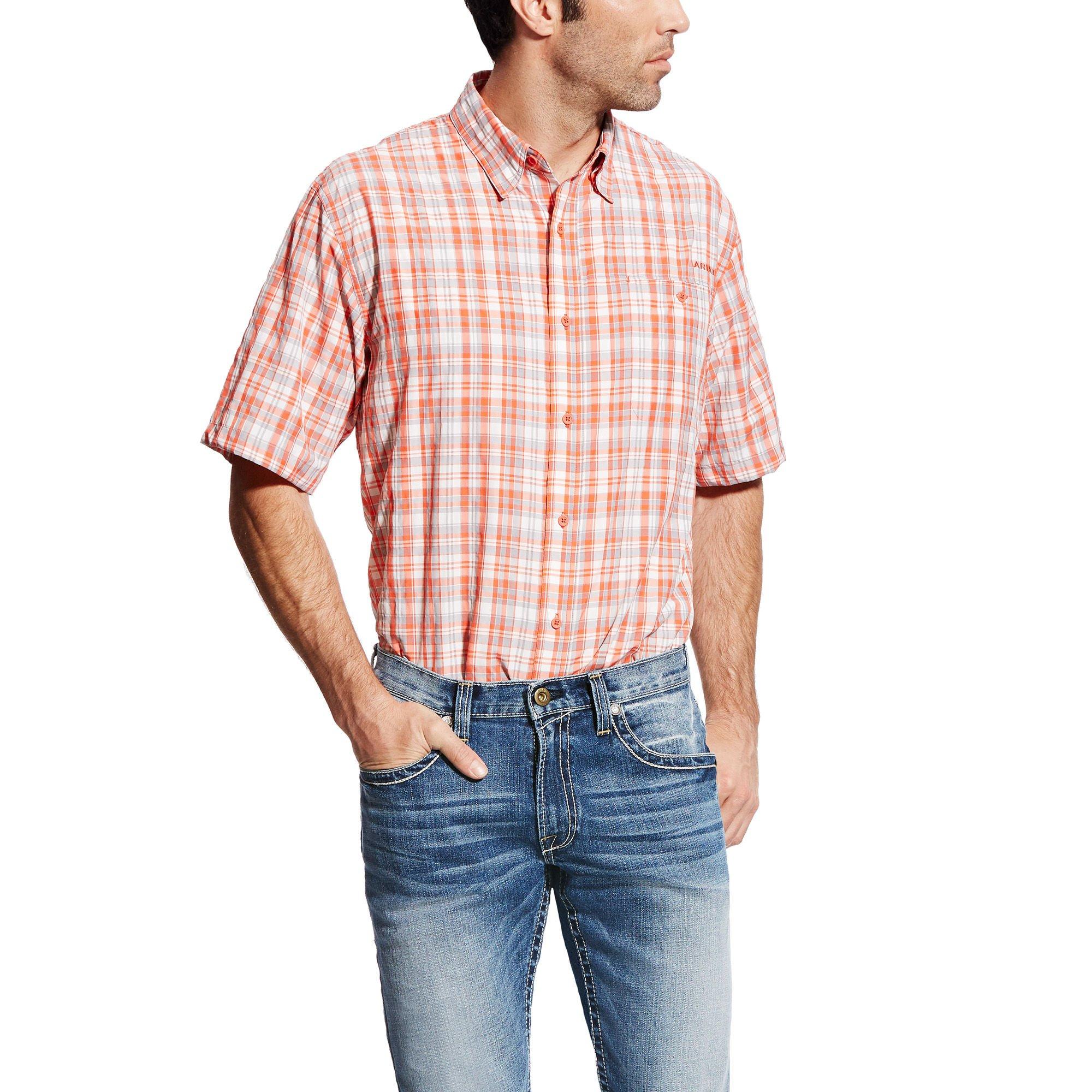 Ariat Men's Venttek Ii Short Sleeve Shirt, Multi/Colored, Med