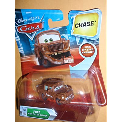 Disney / Pixar CARS Movie 155 Die Cast Car with Lenticular Eyes Series 2 Fred with Fallen Bumper Chase Piece!: Toys & Games