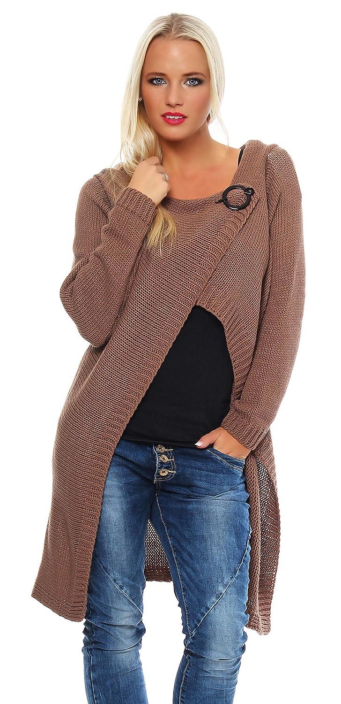 Mississhop Cardigan Jacke Strick Sweatshirt Pullover Strickjacke Überwurf Einheitsgröße 36 38 40 S M L 6 Farben