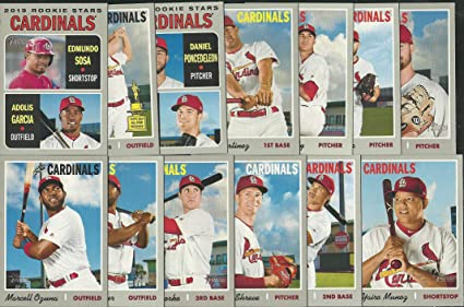 2017 2018 2019 Topps Heritage St Louis Cardinals 3 Team